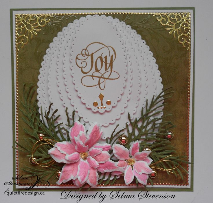 Joy Craft Stamp And Die Poinsettia