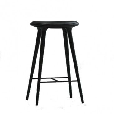 Black Space High Stools & Mater Stained Oak Stool | YLiving