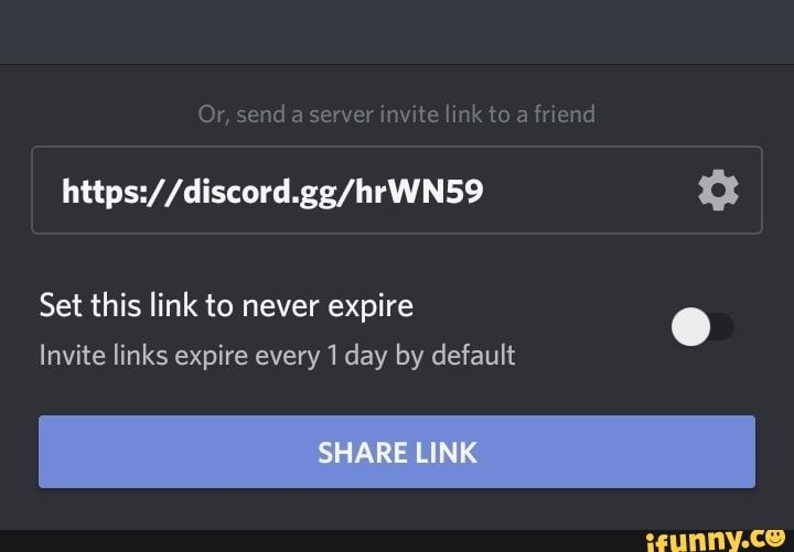 Or Send A Server Mvxtc Link To A Friend Https Discord Gg Hrwn59 3 Set This Link To Never Expire Invite Links Expire Every Day By Default Ifunny Legend Of Zelda