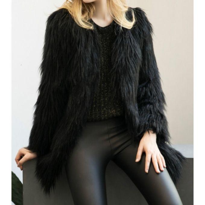 Manteau tendance fausse fourrure - bestyle29.com