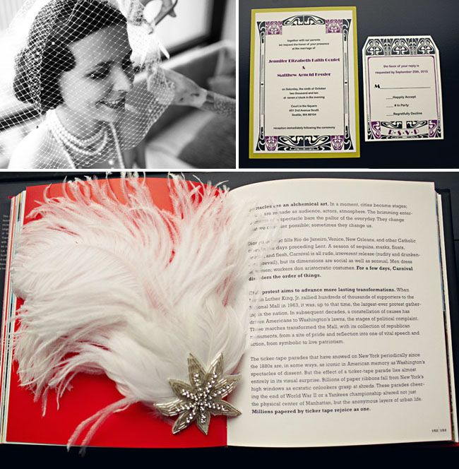 """1920′s Inspired Wedding, advice for those planning now? """"Start early with a clear idea of what you want in mind that way when you see stuff along the way you can pick it up or make it and check it off the list."""""""