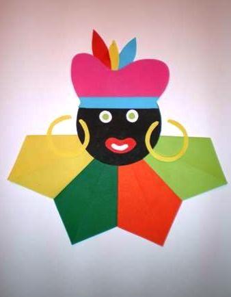 Knutselopdrachten.nl | Knutselen: Zwarte Piet vouwen - Instructiepagina