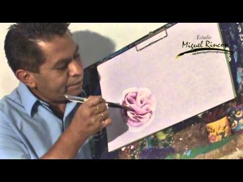 Como pintar una rosa - Hojas - Pinceladas - PIntura acrilica - Silvia Mongelos - YouTube                                                                                                                                                                                 Más