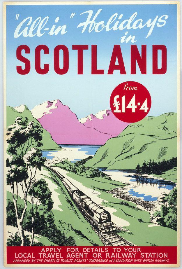 Scotland, British Railways, 1950 | 15 Vintage British Rail Posters That Will Give You Wanderlust