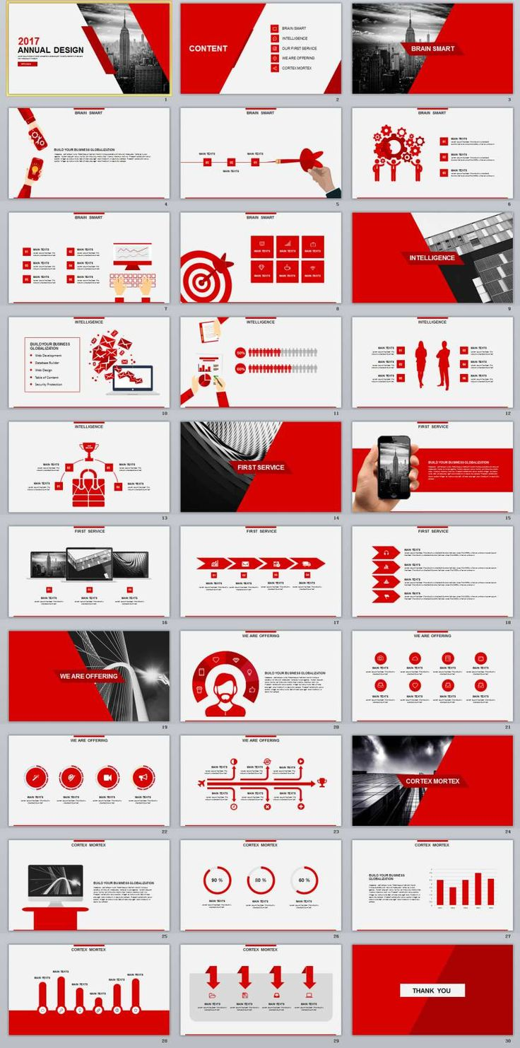 30+ Red Annual Design PowerPoint Templates