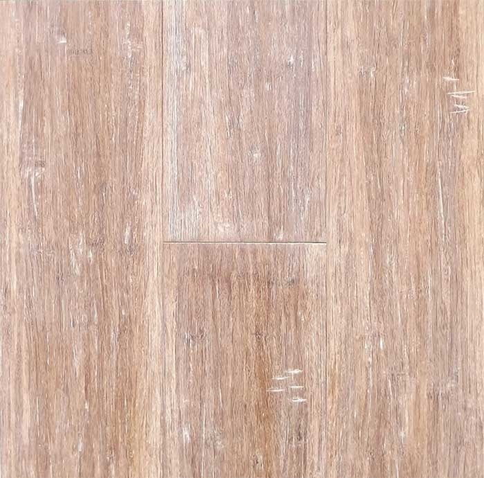 Whitewash Nantucket coastal solid strand woven Bamboo flooring adds distressed hand scraped character to your home.
