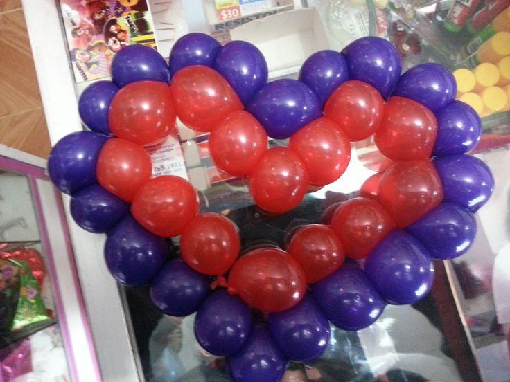 Coraz n de globo balloon heart decoraciones con globos - Decoraciones con globos ...