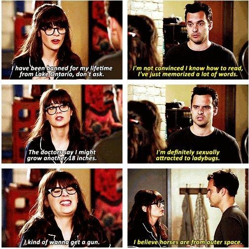 "And when Jess and Nick shared their secrets. | 28 ""New Girl"" Quotes Guaranteed To Make You Laugh Every Time"
