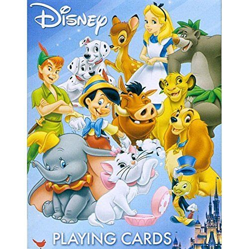#Disney #Friends Playing Card Deck: Play classic card games like Rummy, Gin and Go Fish with your favorite classic Disney characters! Each of your old favorites g...