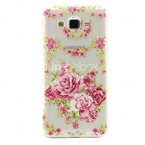 pünkösdi rózsa mintás TPU puha telefon tok Samsung Galaxy j2 / j5 / g360 / G530 - USD $3.99