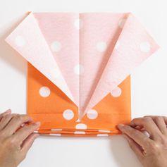 Pliage serviette en papier forme papillon - La Belle Adresse