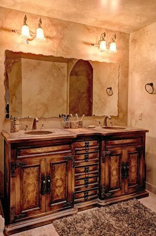 Good Master bathroom in Mediterranean style with a small pool columns and travertine tiles travertine Master BadezimmerBadezimmer