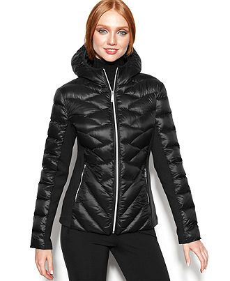 Bcbgeneration Coat Hooded Quilted Down Packable Puffer