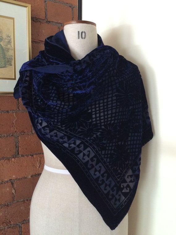 Oversized Merino Wool Scarf - Blue+DarkBurst 2 by VIDA VIDA YhRVClrNy