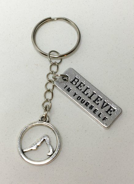 7.99$ Custom Yoga Keychain (+ Quote) | Motivational Fitness Jewelry - Miss Fit Boutique