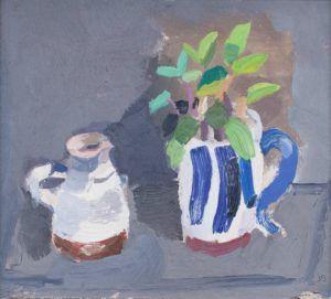Julian Bailey Genovese basil in a handmade cup