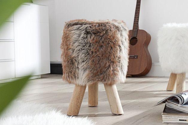 Pufa stołek siedzisko Ball Cow II brąz 45cm