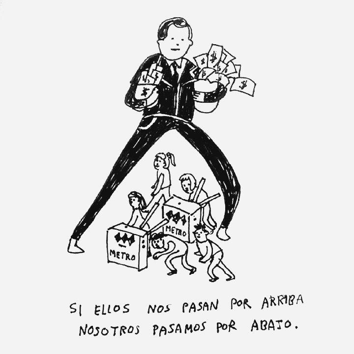 """""""Si ellos nos pasan por arriba, nosotros pasamos por abajo"""", dibujo de catalinabu"""