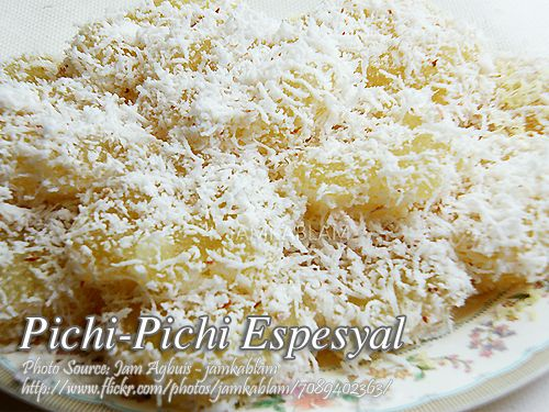 how to make pichi pichi using fresh cassava