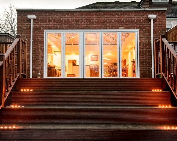 Gorgeous decking leading up to this orangery