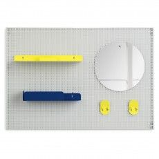 Alfred wall tidy - lemon yellow and navy blue