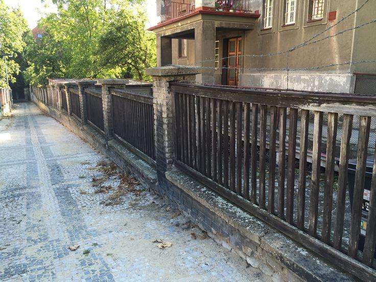 The First republic fences and foryards. Prague-Zizkov.