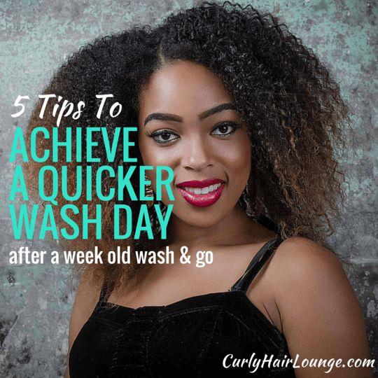 Achieving a quick wash day after a week old wash and go is near impossible mission but still doable. Set the timer, follow these 5 tips and you'll be surprised. Click now to discover  them!