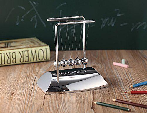 JLERU Pendule de Newton Cradle Sciences Psychology Puzzle Balance Balls Desk Toy Newton: Cradle Un gadget exquise de Newton obtient…