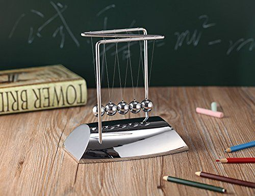JLERU Pendule de Newton Cradle Sciences Psychology Puzzle Balance Balls Desk Toy Newton: Cradle Un gadget exquise de Newton obtient…