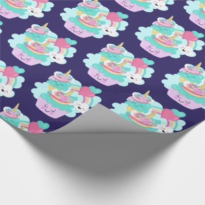 Cute Cupcake y Happy Ice Cream Pattern Papel de regalo | Zazzle.com   – wrapping paper