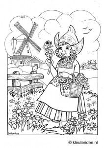 251 best Dutch Designs to Color or Stitch images on