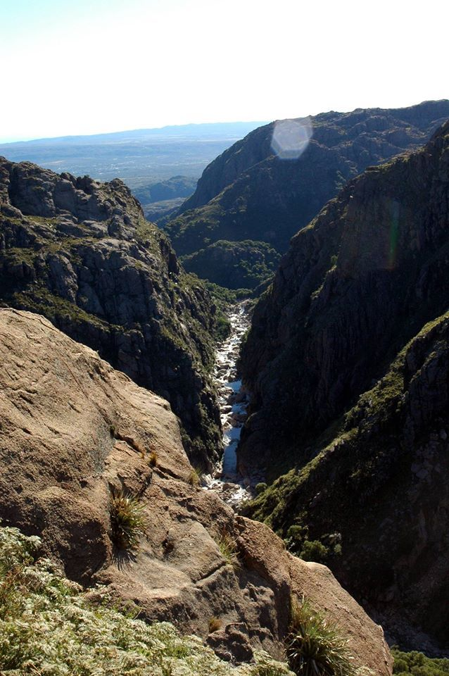 Nacimiento Río Mina Clavero. Córdoba. Argentina