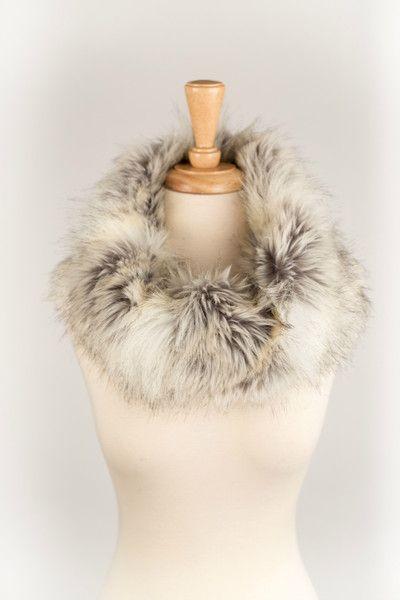 Silver Fox Faux Fur Scarf