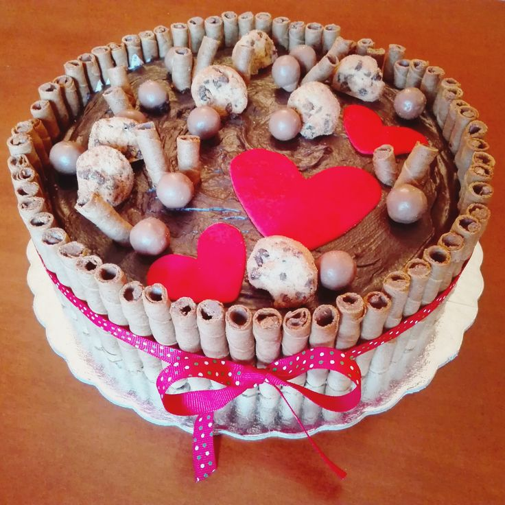 Birthday cake with chocolate creme patissiere!
