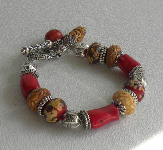 La Mesa Handmade Beaded Bracelet Bamboo by bdzzledbeadedjewelry, $34.00