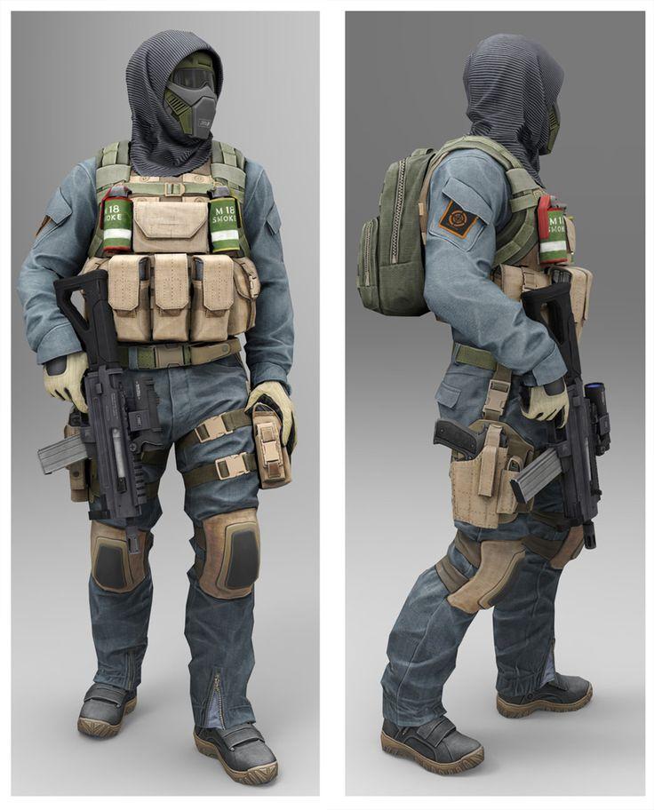 ArtStation - masked soldier low poly model, Georgi Georgiev