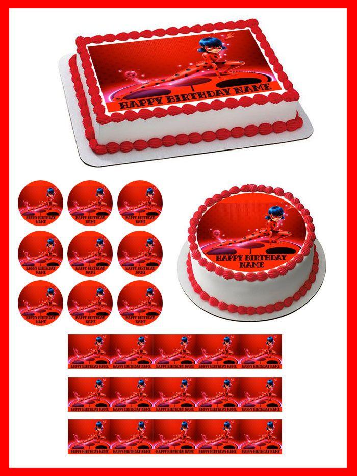 Miraculous Ladybug Wiki Edible Birthday Cake Topper & Cupcake Topper #Unbranded #BirthdayChild