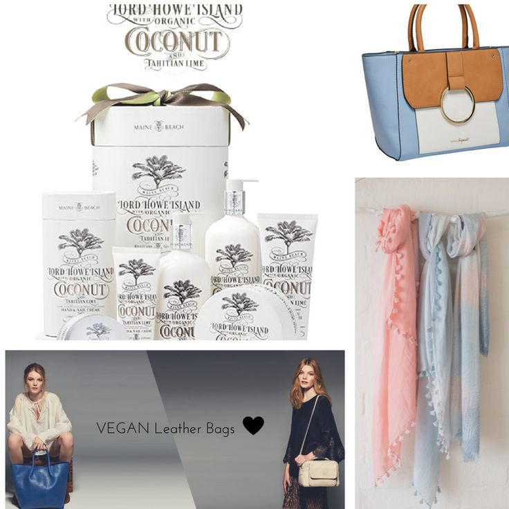 Soem of our new products in store this week.... Vegan Leather Handbags, Coconut & Lime Body creams and divine spring scarves...