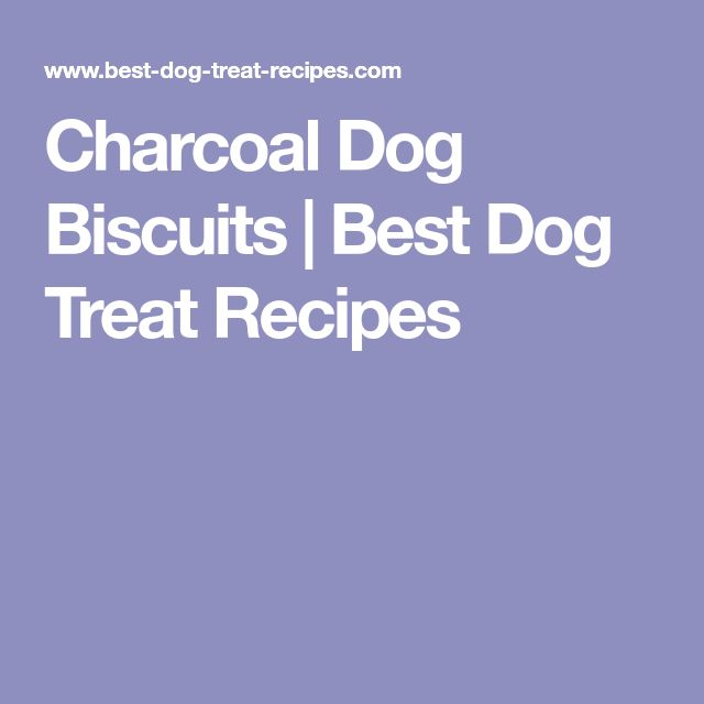 Charcoal Dog Biscuits | Best Dog Treat Recipes