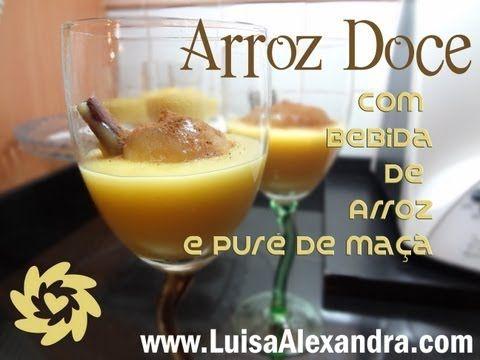 Arroz Doce com Bebida de Arroz e Puré de Maçã • www.luisaalexandra.com