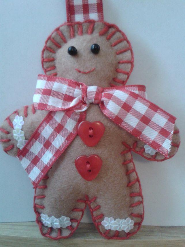 Handmade Gingerbread Man Shabby Chic