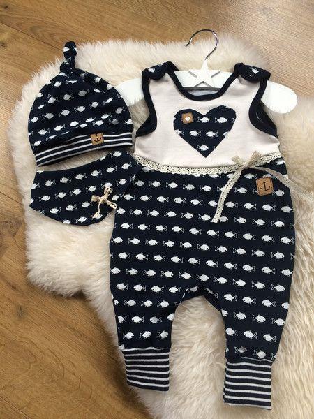 Sets - ♥ Newborn 3 tlg. Babyset gr.56 ♥ - ein Designerstück von Creative-Happiness bei DaWanda