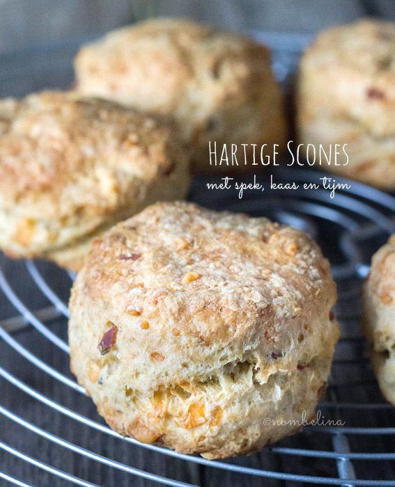 Hartige scones met spek, kaas en tijm - Nombelina.com