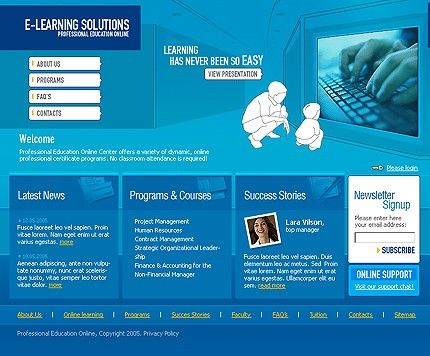 Education E-learning Flash Templates by MariArti