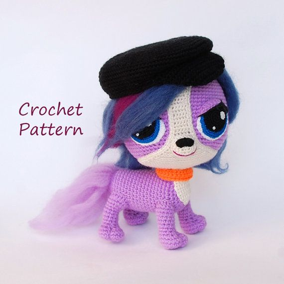 amigurumi pattern stylish purple dog zoe crochet cartoon dog pattern amigurumis puppy toy. Black Bedroom Furniture Sets. Home Design Ideas