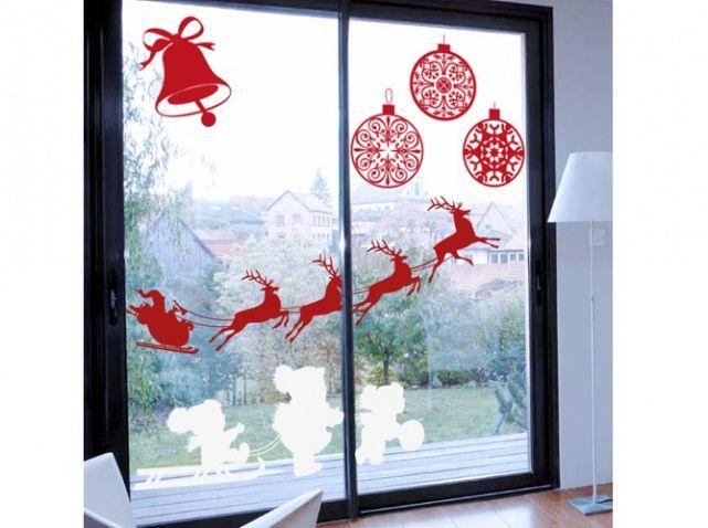 10 ideas about stickers noel on pinterest renne - Decoration de noel pour fenetre ...