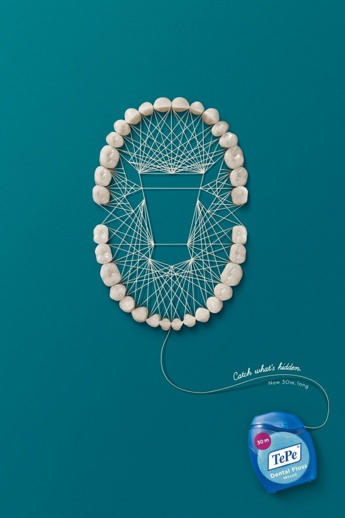 TBWA\Istanbul, Turkey - TePe Dental Floss 'Catch what's hidden. Now 30m long.'
