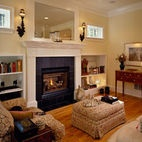 Traditional Spaces Bookshelves Fireplace Design, Pictures, Remodel, Decor and Ideas - page 4