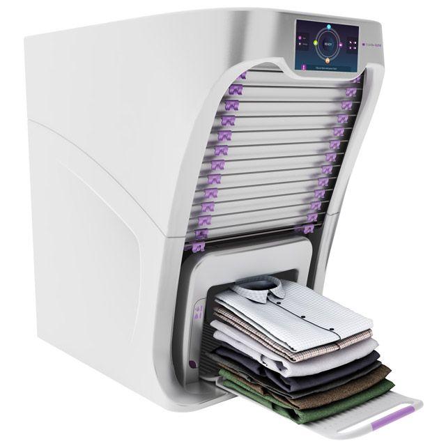 Nareszcie! Oto maszyna do prasowania i składania ubrań - Sprzęt RTV i AGD…