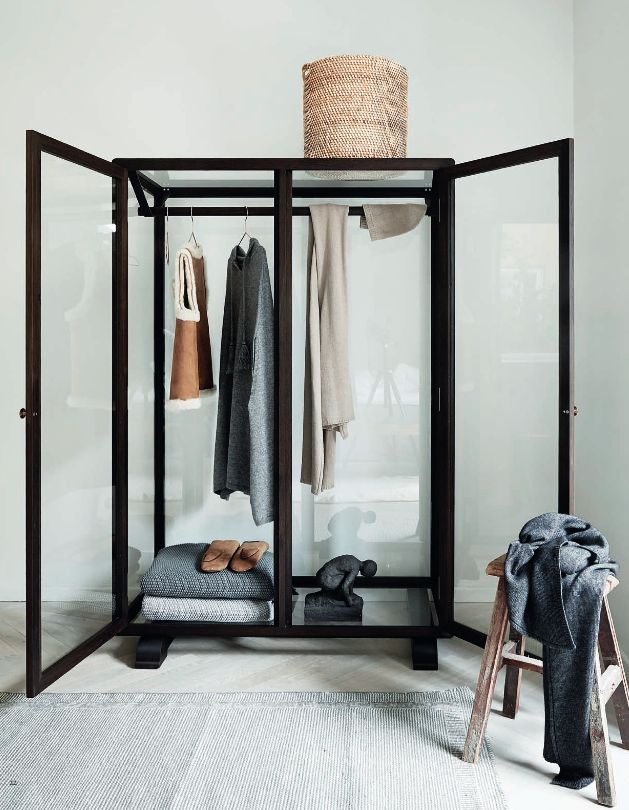 glass wardrobe.